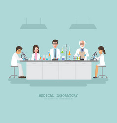 medical science laboratory vector image vector image