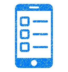 Mobile test grainy texture icon vector