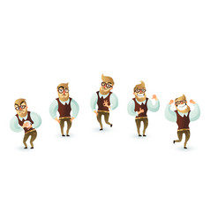 office week man set vector image vector image