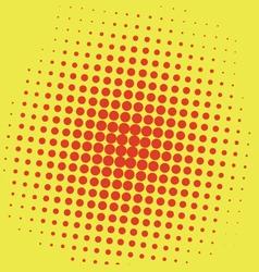 Pop art beckground yellow vector