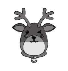Reindeer xmas cartoon vector
