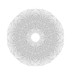 Round ornamental shape black pattern vector image vector image