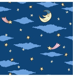seamless pattern made from night sky with stars vector image vector image