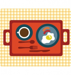 simple breakfast vector image vector image