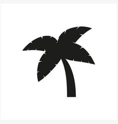 Simple minimal black tree icon symbol style vector