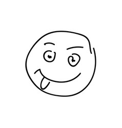 sketch emoticon smiley face cartoon vector image vector image