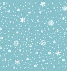 snowflakes seamless pattern snowfall vector image vector image