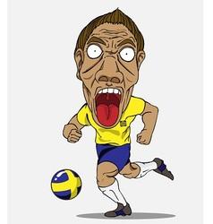 Soccer player Sweden vector image