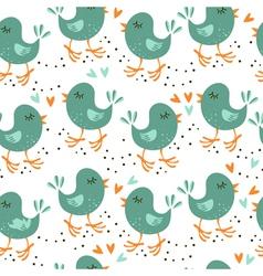 Talking bird patterns vector image vector image