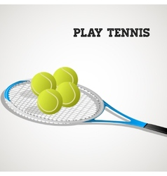 Tennis rackets and balls vector image vector image