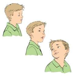Three emotions of the boy vector image vector image