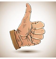 Thumb up like hand vector