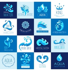 Water Emblems Set vector image vector image