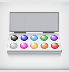 watercolor paint set with art brush isolated on vector image vector image