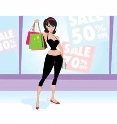 woman shopper vector image vector image
