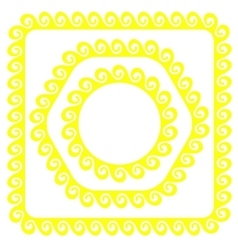 Yellow frames vector