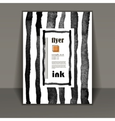 Flyer brochure art with ink stains vector