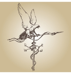Weather vane hand vector