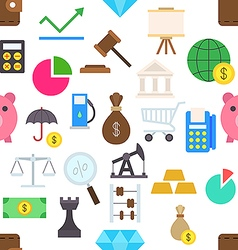 Economy pattern stickers vector image