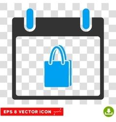 Shopping Bag Calendar Day Eps Icon vector image