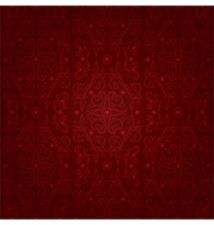 Floral seamless pattern on a red background vector image