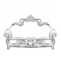 Royal sofa with ornaments vector