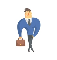 Smiling businessman top manager in a suit office vector