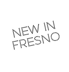 New in fresno rubber stamp vector