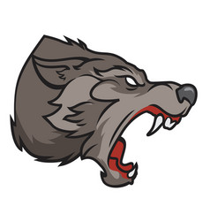 Grinning wolf vector