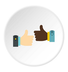 International gesture approval icon circle vector