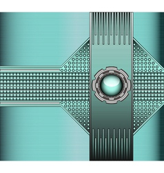 Technical background with metallic vector