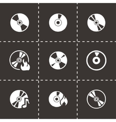 Cd icon set vector
