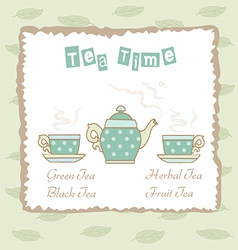 Time for tea vector