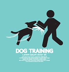 Dog training graphic symbol vector