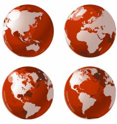 World globes vector