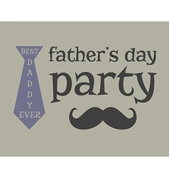 Father s day greeting template mustache unusual vector