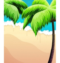 Palm trees sea and sand vector