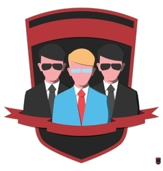 Guards in black suits vector