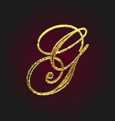 G golden letter vector