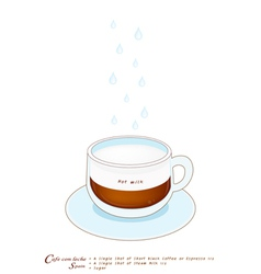 A cup of cafe con leche on white background vector