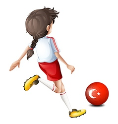 A soccer player from Turkey vector image