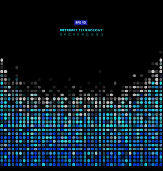 abstract dots blue and gray color on black vector image vector image