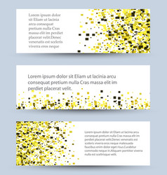 banners set of white textured rectangle vector image vector image