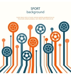 Concept of web banner Sport background vector image vector image