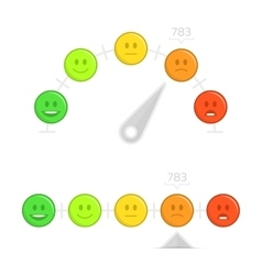Credit score gauge with smile vector image vector image