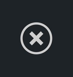 Cross icon simple vector