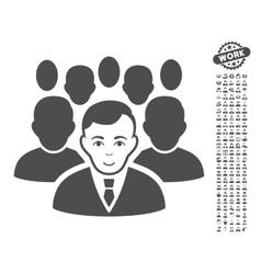 Crowd icon with bonus vector