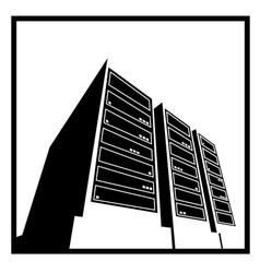 Data center white vector