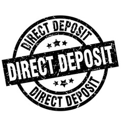Direct deposit round grunge black stamp vector
