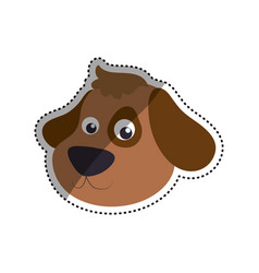 dog cartoon drawing head vector image vector image